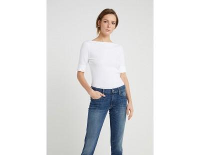 Lauren Ralph Lauren JUDY ELBOW SLEEVE - T-Shirt basic - white/weiß