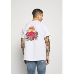 Mennace HAVANA TATTOO HEART - T-Shirt print - white/weiß