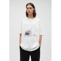 PULL&BEAR T-Shirt print - white/weiß