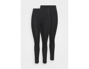 Simply Be BASIC 2 PACK - Leggings - Hosen - black/schwarz